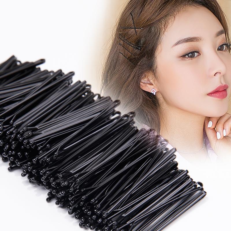 发夹一字夹简约夹子固定头发黑色发卡子钢夹刘海边夹少女顶夹头饰