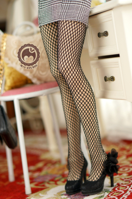taobao agent 【Meow House】Double layer anti-dyeing through meat black silk socks sexy stockings SD DD BJD 3 points