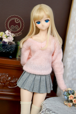 taobao agent 【Meow House】Pleated skirt skirt plaid woolen BJD doll area winter 3 points DD SDGR baby clothes spot