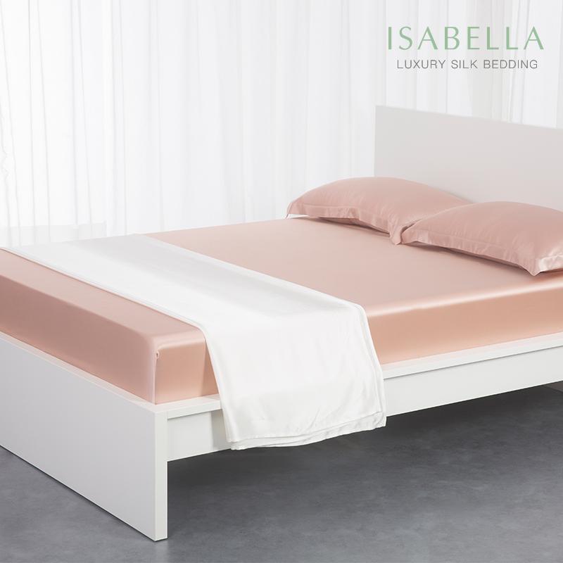 依紗貝拉-ISABELLA真絲床笠桑蠶絲寬幅真絲床品床包床罩重磅寬幅