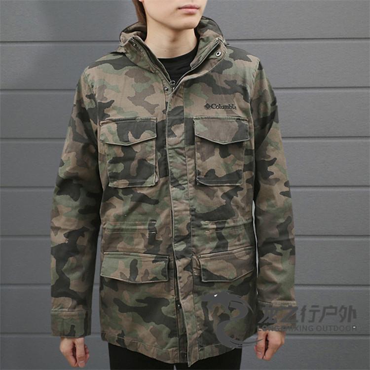 正韓男裝2021秋冬新品Columbia哥倫比亞戶外男式工裝外套防風沖鋒衣KE0087