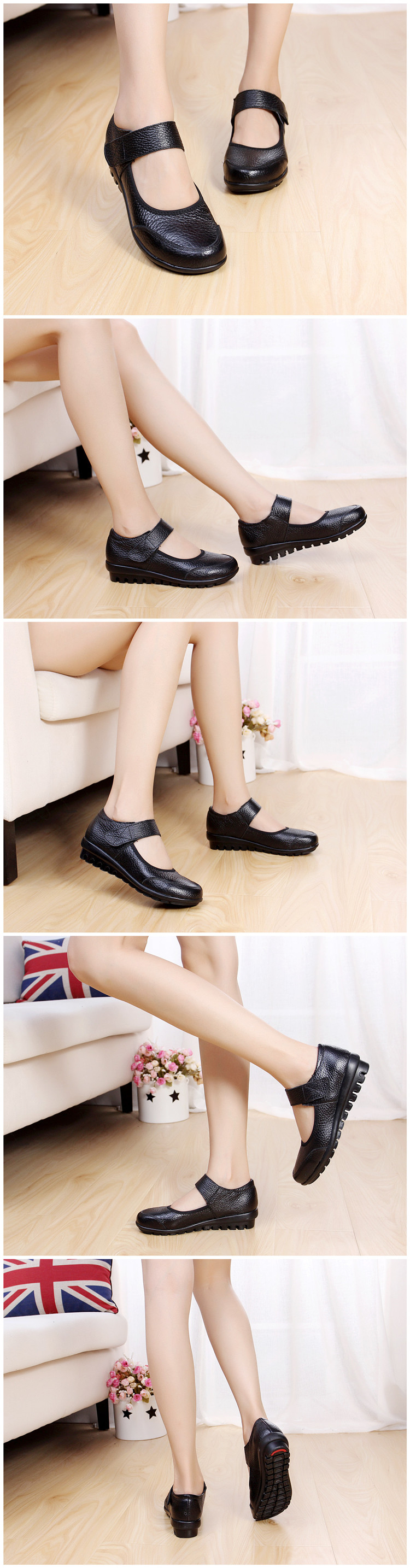 Women Genuine Leather Mother Shoes Moccasins Women's Soft Leisure Flats Ladies Driving Shoes Flat Loafers free shipping