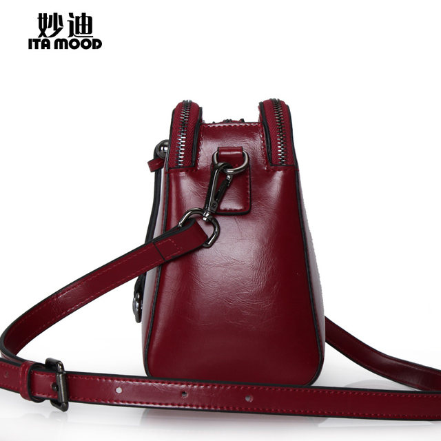 df8f30fbe15d Miao di 2015 new leather women bag wax skin shoulder Messenger bag ...