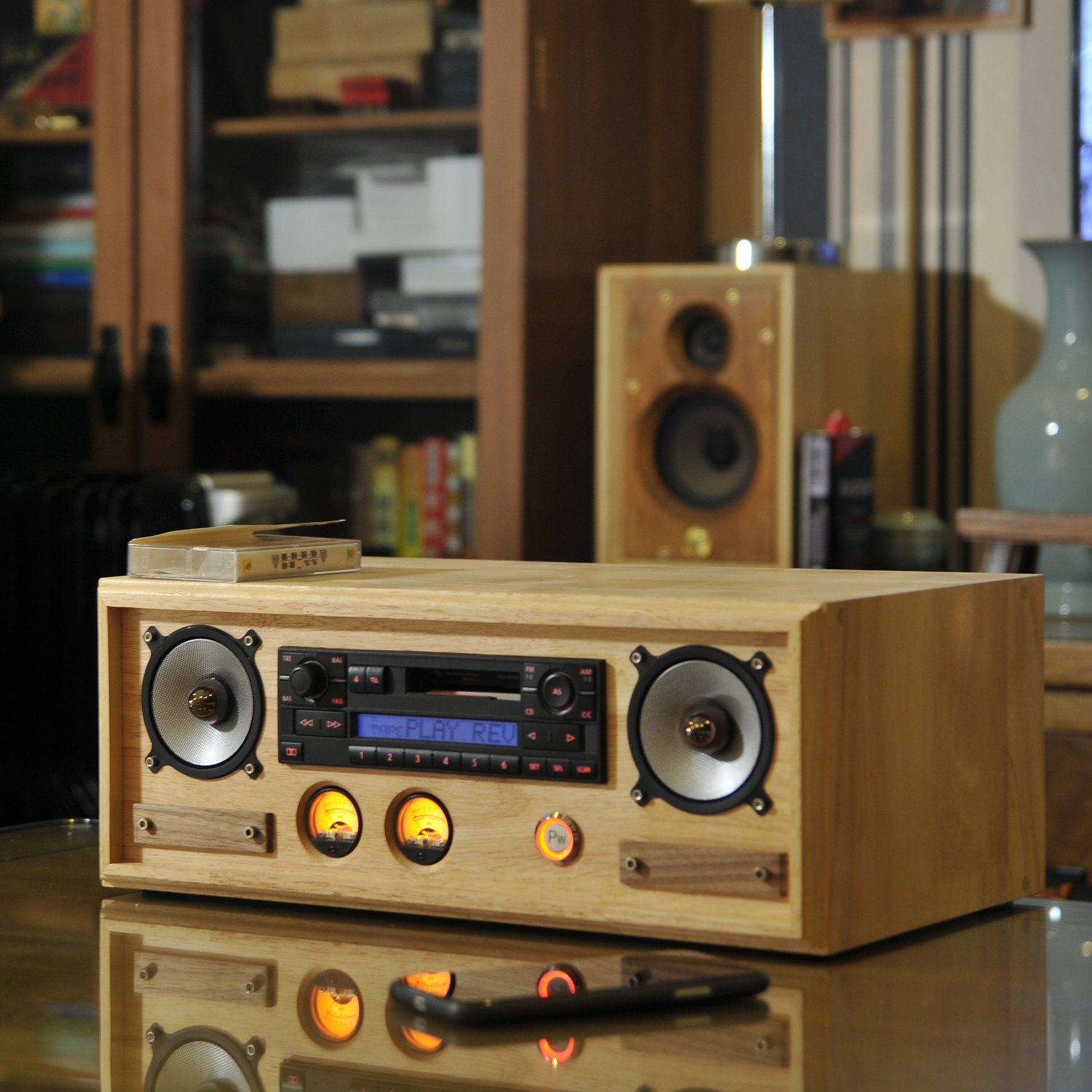 Kenwood Foss Alpine Pioneer single spindle CD cassette machine to change home audio special custom edition All box
