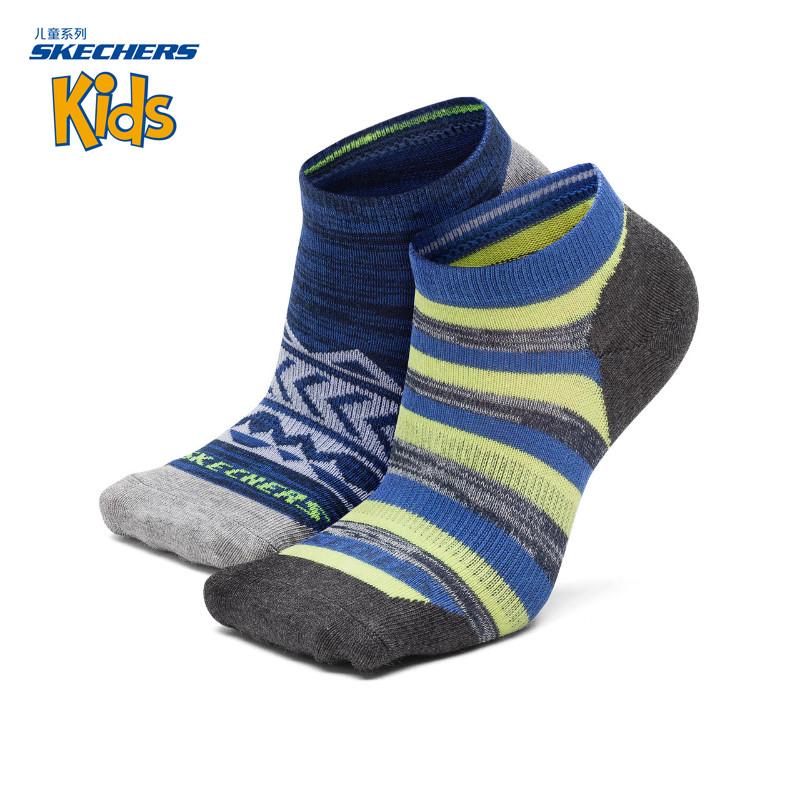 Skechers скай странный мальчиков носки воздухопроницаемый мелкий рот движение смешанные цвета короткие трубки носок SSBF17802
