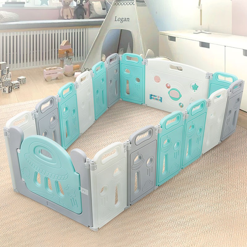 【双11预售】澳贝折叠围栏儿童防护栏游戏爬行垫围栏宝宝星球栏