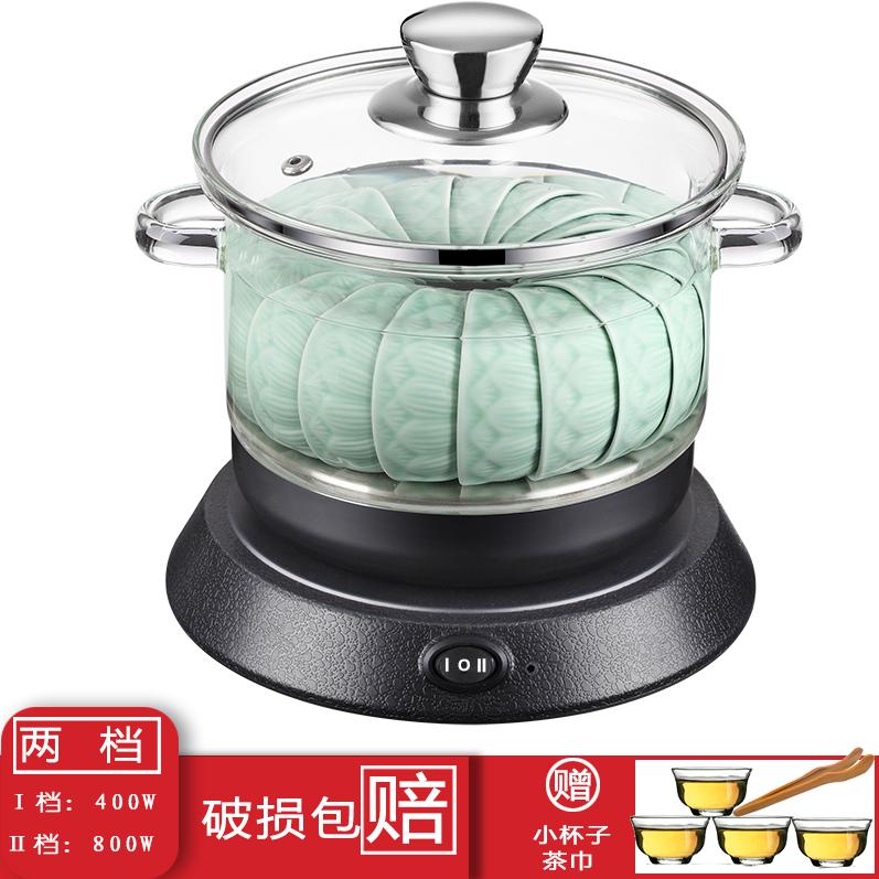 茶杯玻璃锅平底茶洗消毒锅套装功夫茶具电磁炉用不锈钢锅茶道配件详细照片