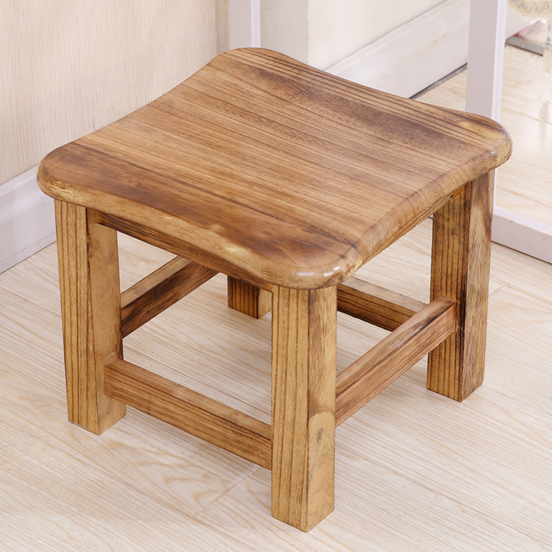Incredible Solid Wood Stool Home Small Bench Fashion Solid Wood Creative Low Stool Change Shoes Stool Living Room Coffee Table Stool Adult Small Square Stool Customarchery Wood Chair Design Ideas Customarcherynet
