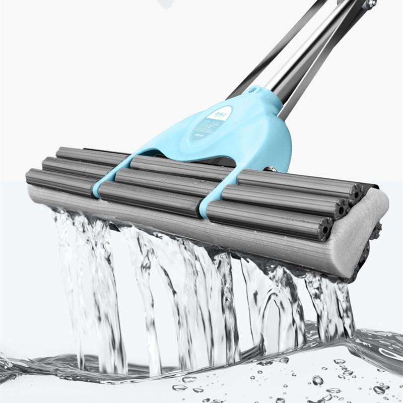 海绵拖把家用可伸缩免手洗吸水拖把懒人旋转式胶板拖地神器