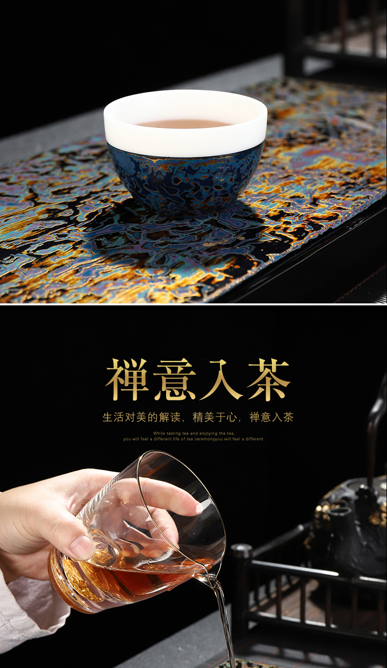 Recreational product lacquer Chinese suet jade white porcelain masters cup traditional checking Chinese lacquer cups sample tea cup