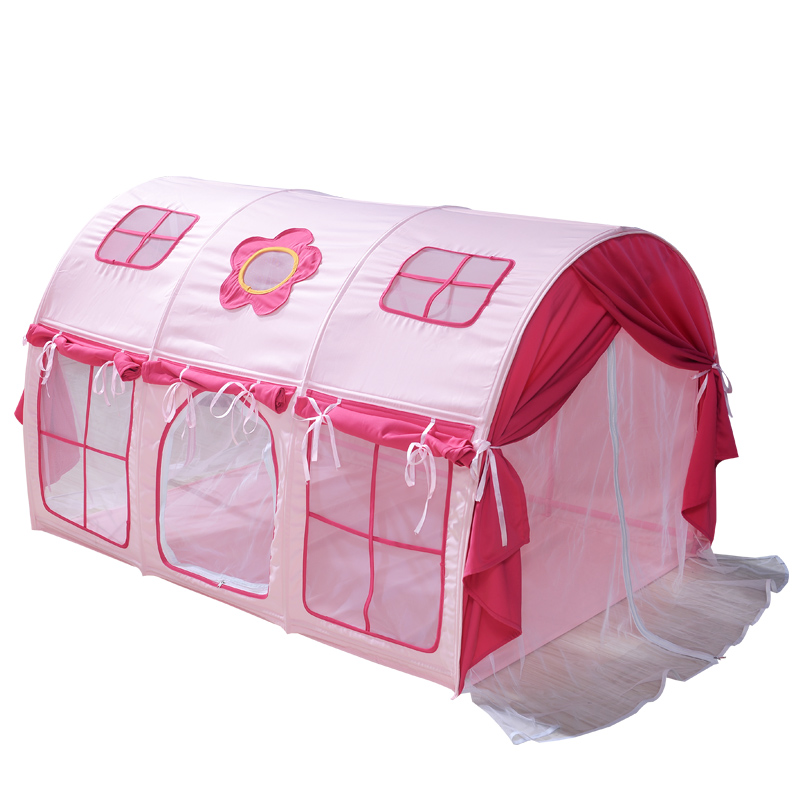 ... European bed mantle flower bed mantle flower package heightening zipper tent gauze curtain style rainbow tianzifang Large window custom cotton fabric ...  sc 1 st  EnglishTaobao.net & USD 27.23] New Childrenu0027s bed tent boy girl bed tent room Bunk Bed ...