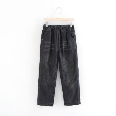 120-170 Withdrawal children's clothing winter jeans trousers trousers children wearing warm pants boy 26116128