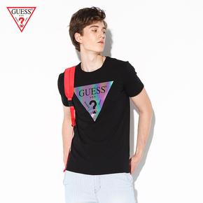 GUESS мужской лить треугольник LOGO короткий рукав T футболки -M83I28J1300, цена 2199 руб
