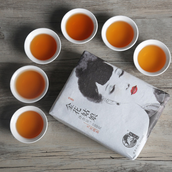 黑美人 安化黑茶 金花姑娘 手筑天尖茯砖茶 500g礼盒装 优惠券折后¥49.5包邮(¥99.5-50)