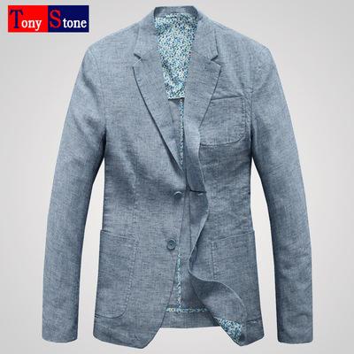 Người anh mùa xuân mới thường linen phù hợp với nam mỏng mỏng cotton linen duy nhất phù hợp với nam áo khoác áo khoác Suit phù hợp