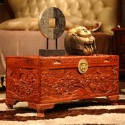 Đầy đủ mùi thơm long não gỗ hộp rắn lưu trữ hộp gỗ Trung Quốc cổ chạm khắc hộp thư pháp và lưu trữ bức tranh đám cưới của hồi môn - Cái hộp