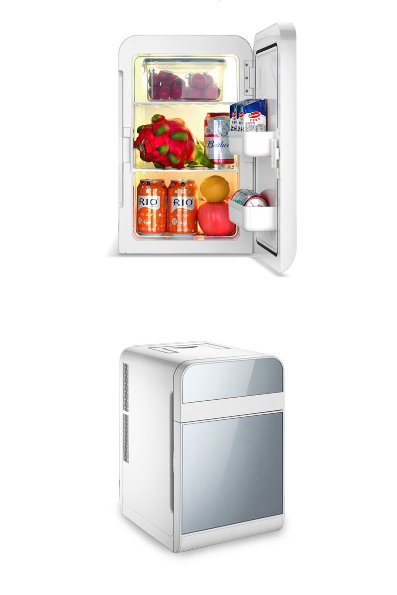【興達生活】德國20L雙制冷車載迷妳小冰箱小型家用微型宿舍車家兩用單雙門式`25655