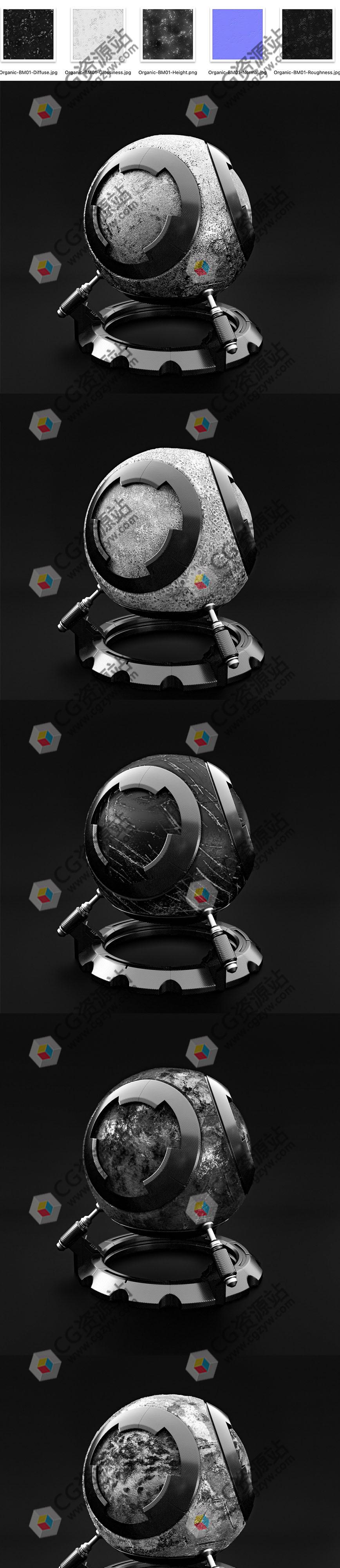 5套划痕瑕疵锈迹灰度贴图材质素材 TFM Greyscale Kits Bundle