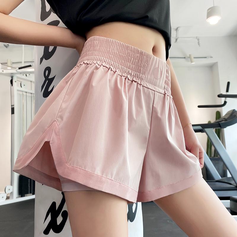 运动短裤女夏季薄款防走光宽松瑜伽裤