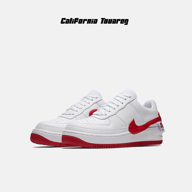 new product 00646 1a1bb Nike AF1 JESTER XX women white red change Crooked hook Air Force One casual  board shoes AO1220-106