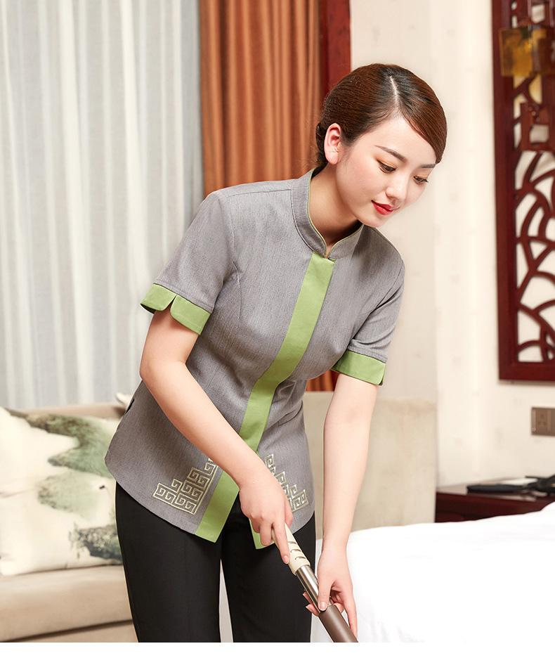 酒店宾馆保洁服短袖商场PA阿姨工作服夏装物业清洁工保洁员服装女