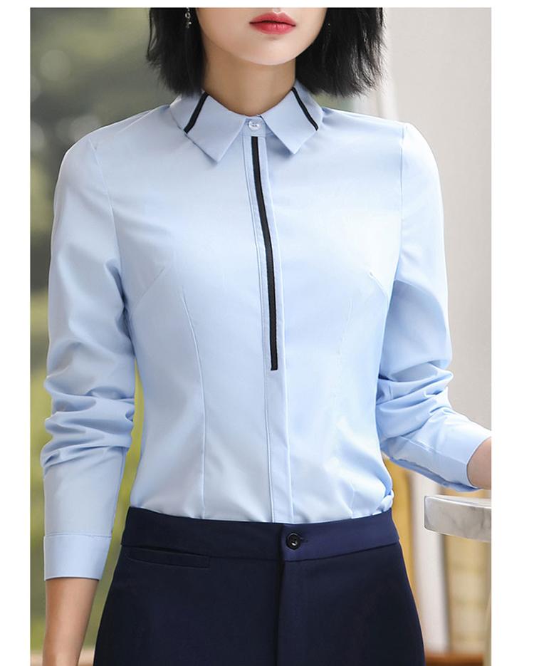 职业白衬衫女秋冬装2020新款免烫衬衣气质正装长袖装工作服