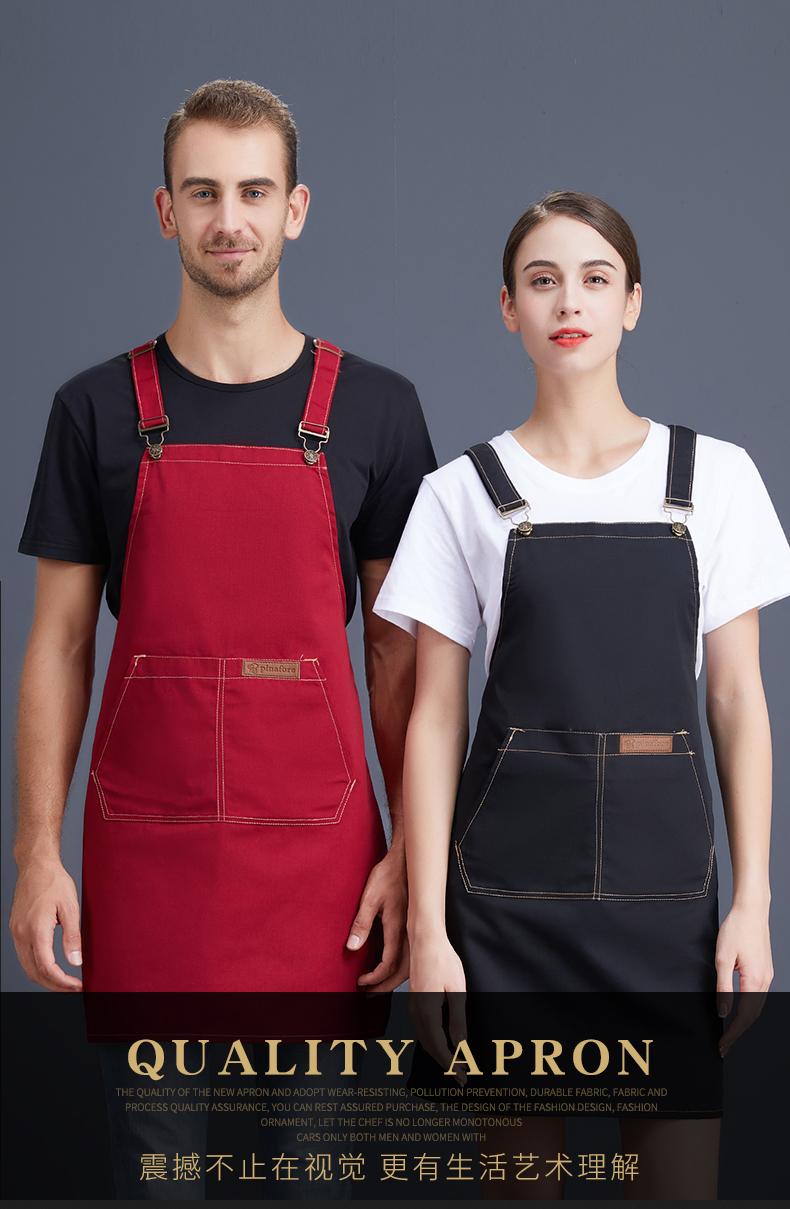 围裙定制logo订做花店蛋糕店烘焙餐厅家用厨房定做印字韩版工作服