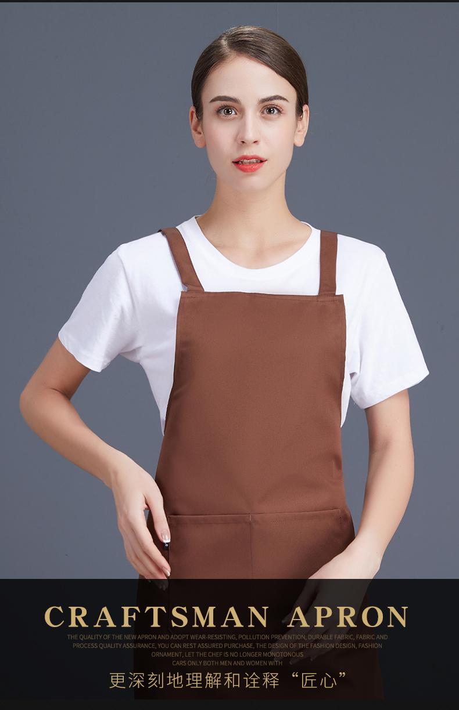 广告围裙定制logo印字工作防水防油家用男女时尚厨房奶茶订做