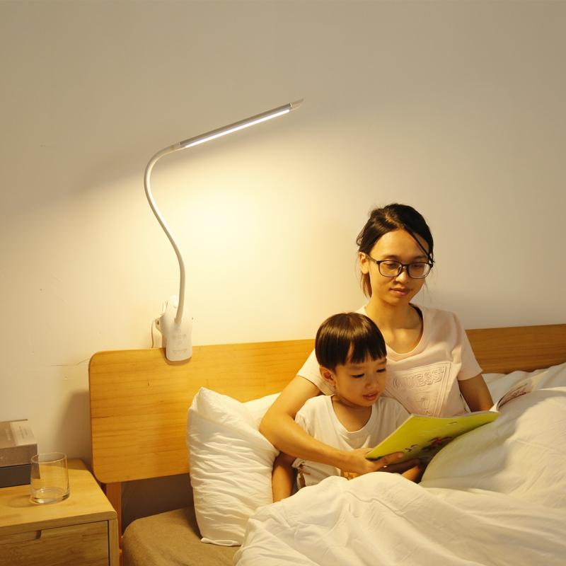 充电台灯护眼学习专用学生儿童书桌卧室夹式夹子式高亮阅读床头灯