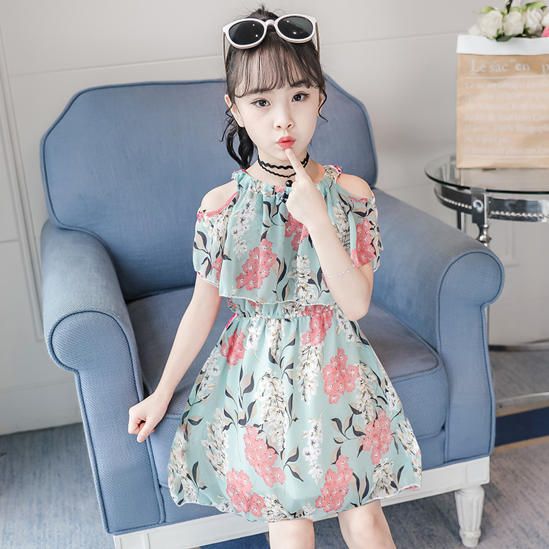Girls dress summer dress 2020 new children's super-air chiffon princess skirt net red children's dress little girl skirt