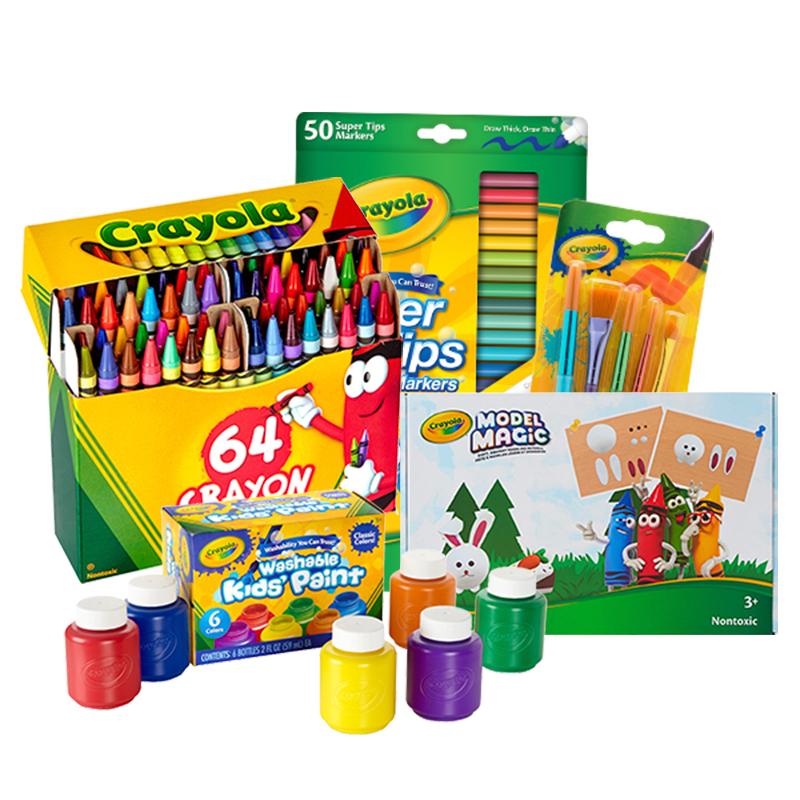 【双11预售】绘儿乐6色颜料50色水彩笔64色彩色蜡笔粘土24色套组