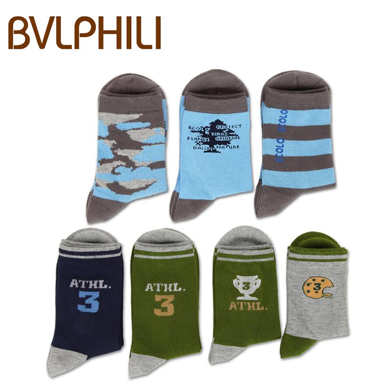 儿童袜四季防臭袜竹纤维卡通运动中筒棉袜