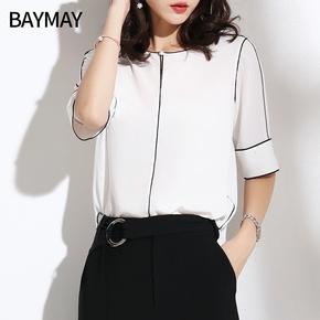 2018夏季新款韩版女装衬衫上衣雪纺