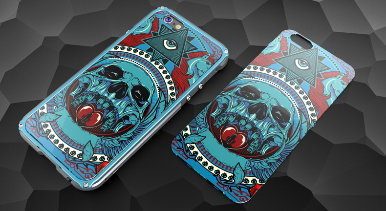 GINMIC Legend Slim Aluminum Metal Bumper Scratch Resistant Graffiti PC Cover Case for Apple iPhone 6S Plus/6 Plus & iPhone 6S/6