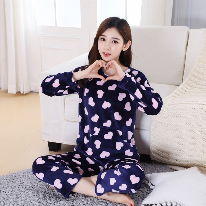 d1f0704b76 Daily special pajamas winter thick coral velvet pajamas flannel home service  large size autumn long-. Zoom · lightbox moreview · lightbox moreview ...