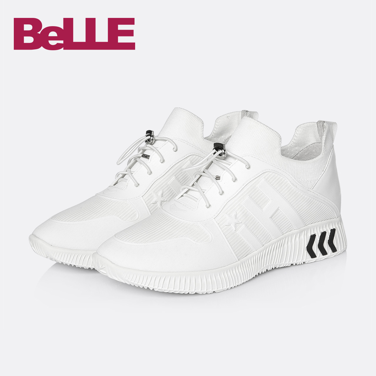 Belle-百麗小白鞋2018春新款商場運動透氣休閑女單鞋S2C1DAM8