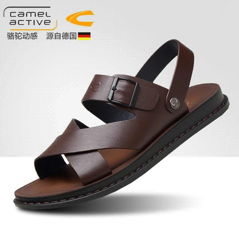 b42246cea933 Germany camel dynamic sandals male Leather Men s sandals 2018 new beach shoes  tide casual shoes leather sandals