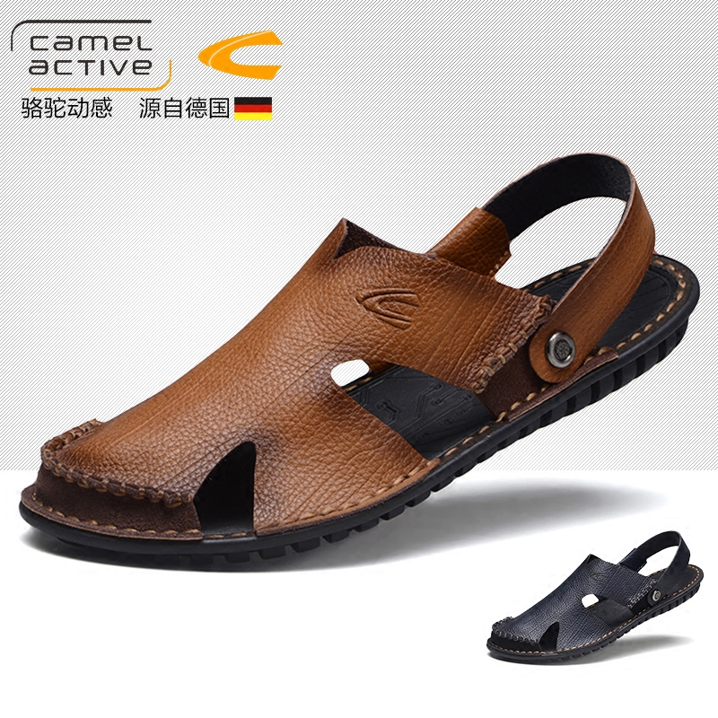 6b4c53b38093 Germany camel dynamic Baotou sandals male leather summer breathable leather  sandals beach shoes Korean youth men s shoes