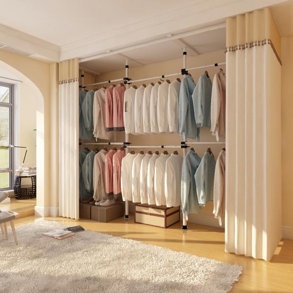 简易衣柜布定制实木卧室组装衣橱简约现代经济型布艺家用收纳柜子