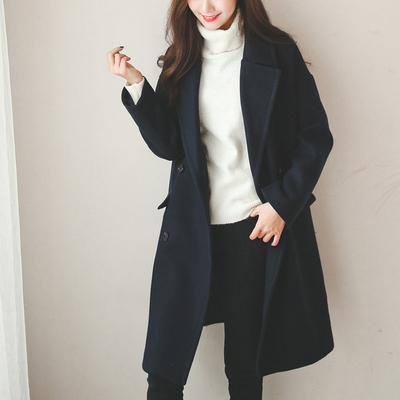呢子大衣女冬季新款加绒加厚时尚毛呢外套