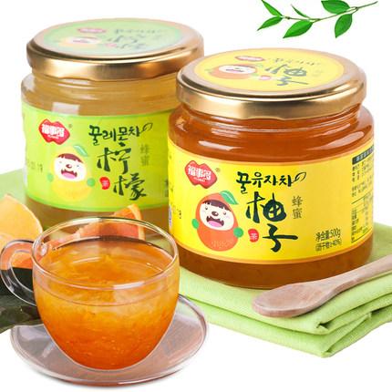 福事多 蜂蜜柚子茶500g+柠檬茶500g 19.9元包邮