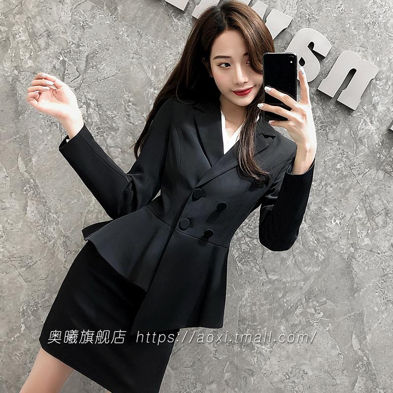 减龄显瘦空姐西装女正装套裙气质职业美容师名媛工作服面试套装