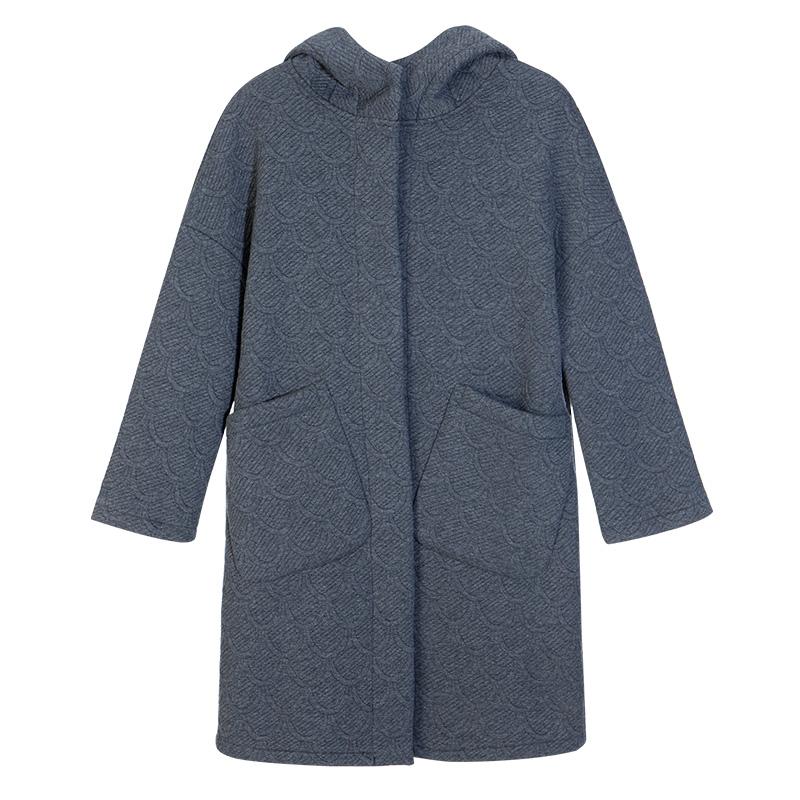 Chống mùa len áo phụ nữ phần dài Hàn Quốc phiên bản 2018 mới dày mùa thu và mùa đông áo len cộng với nhung lỏng Áo khoác dài