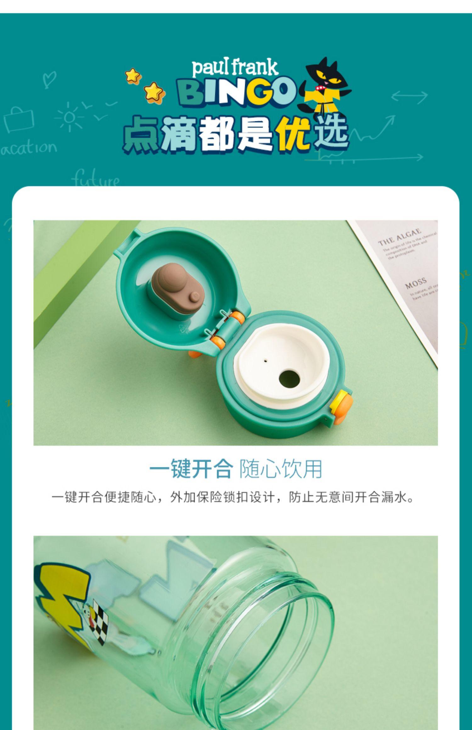 大嘴猴水杯学生可爱可携式塑料运动水壶男女夏天大容量随行杯详细照片