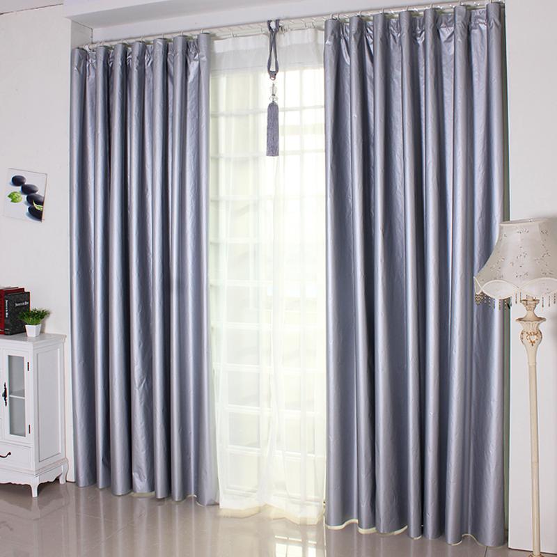 卧室打孔窗帘成品防光v卧室遮光免遮光遮阳客厅出租房加厚全防晒布