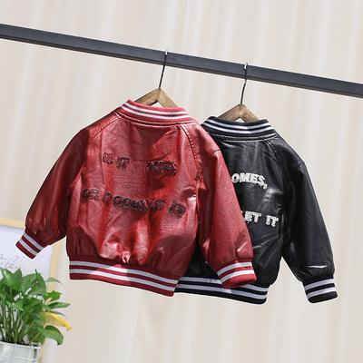 男童皮衣 新款韩版春秋装宝宝皮夹克儿童外套男小童夹克洋气潮