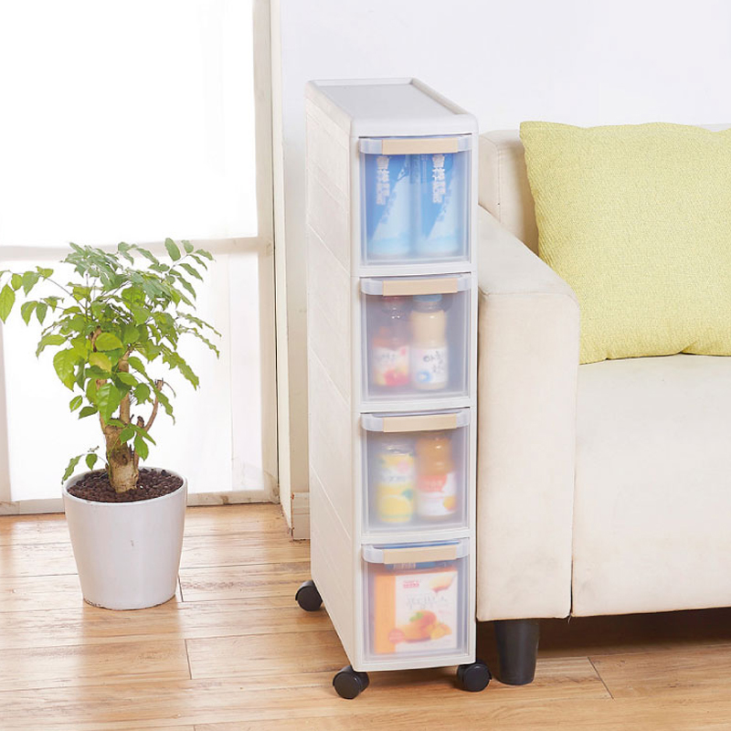 anese style household removable storage cabinet drawer type combination plastic storage cabinet slot narrow cabinet
