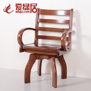 爱绿居 老榆木转椅 现代新中式全实木休闲椅围椅书椅旋转电脑椅