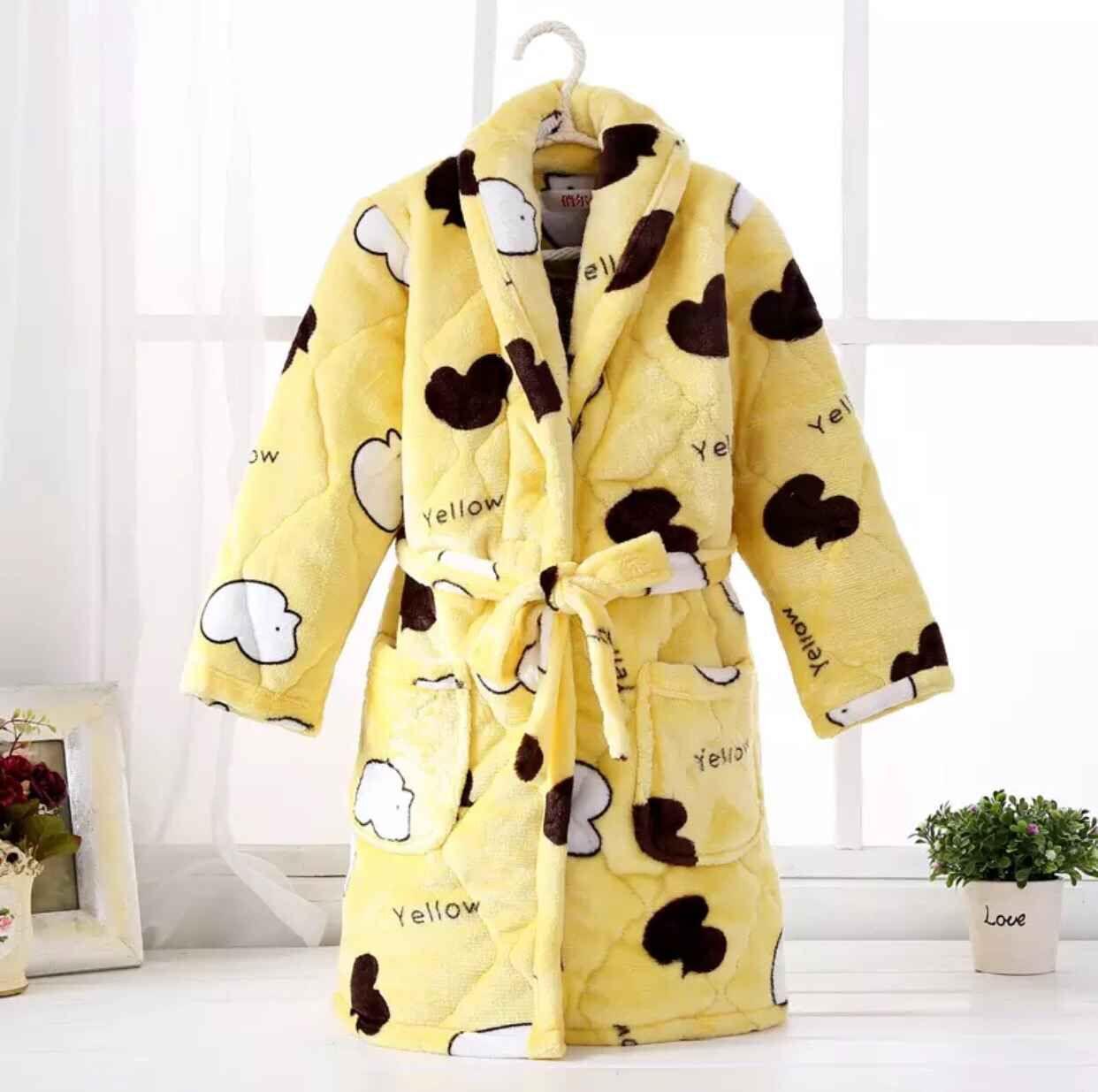Цвет: Стеганый мягкий халат желтая утка