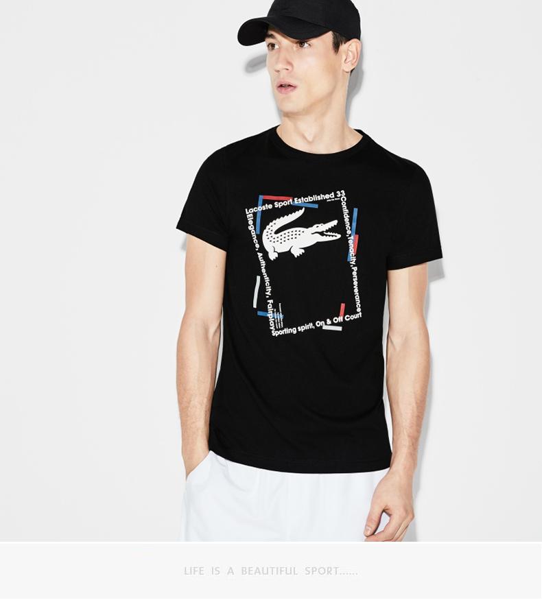 LACOSTE (French crocodile) mùa xuân và mùa hè nam ngắn tay T-shirt TH3361L1 áo thun nike